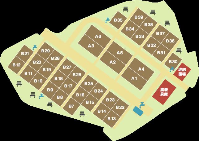 南本宿公園分区園区画図